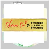 Жаккардовая этикетки Trends Brands дизайнера Оксаны Он